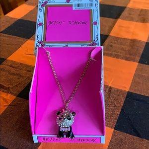 NiB Betsy Johnson panda 🐼 Bear necklace with tags